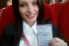 наш члан у Северној Македонији Трајковска Данијела представља ИПО на међународној конференцији безбедности